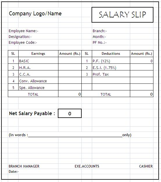 excel example payslip